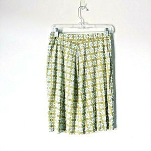5/$15 Tommy Bahama geometric knee length skirt